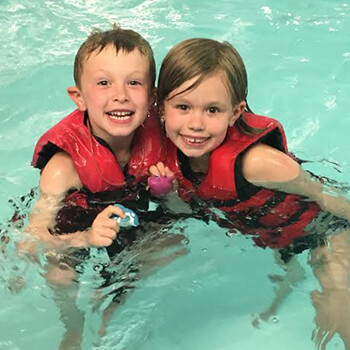 Swimming lessons at Toddle Inn